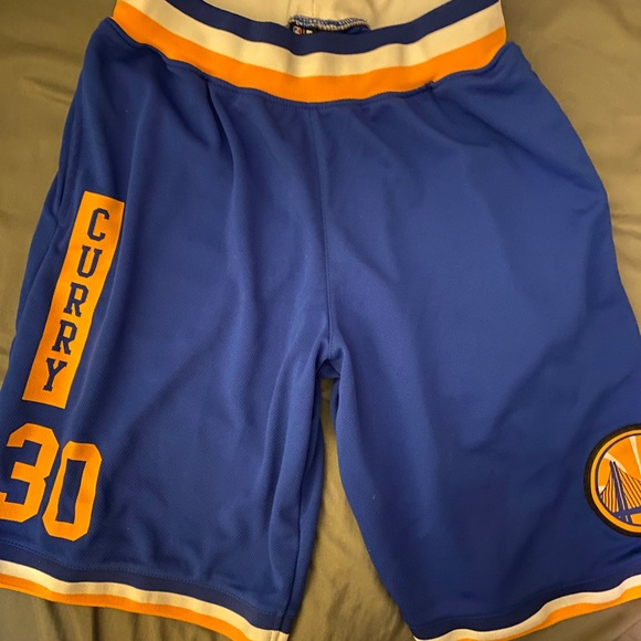 GoldenState Warriors Steph Curry basketball shorts